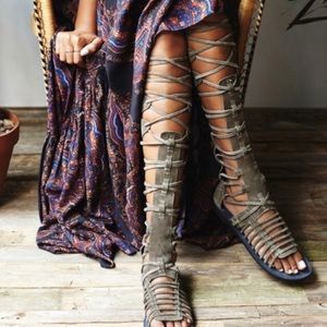 Free people over the knee sandals